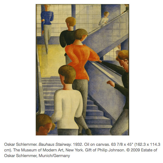 an analysis of oskar schlemmers bauhaus staircase in the museum of modern art in new york