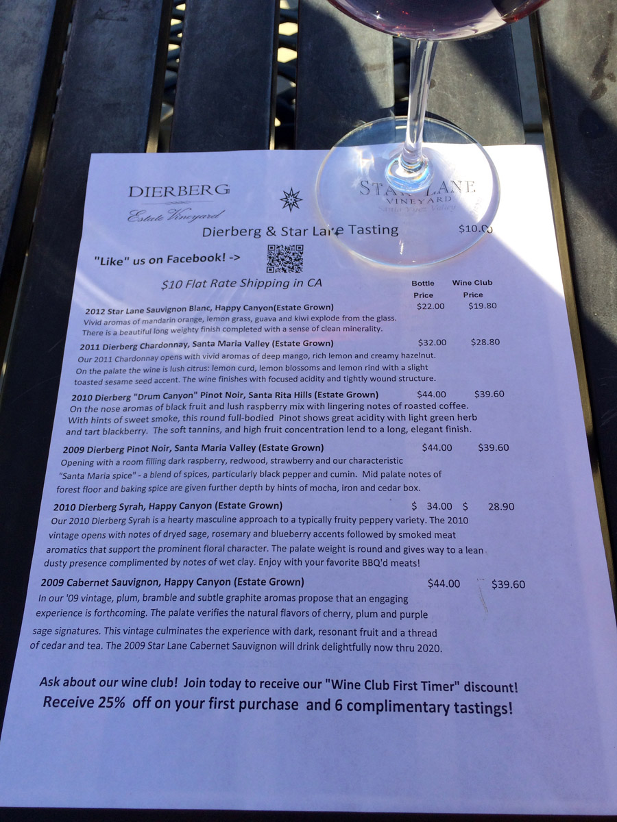 Dierberg Star Lane Vineyards