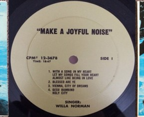 Willa Norman - A Joyful Noise