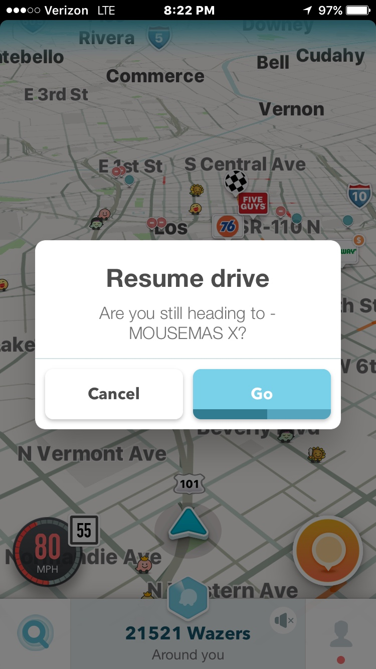 You wouldn't believe how excited I was when Reinita asked for directions and my phone suggested MOUSEMAS as a destination.