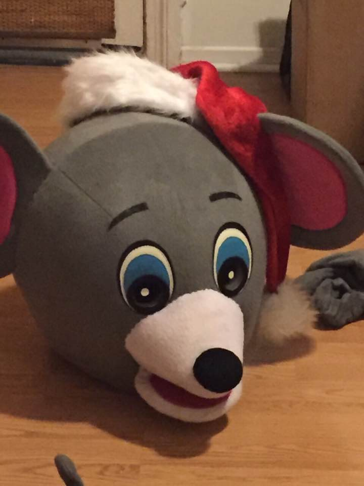 Just to make things extra festive this year I pinned a Santa hat to the Mouse head.