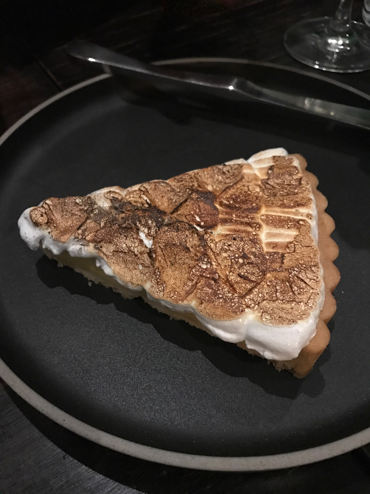 Yuzu Tart (white chocolate, burnt meringue)
